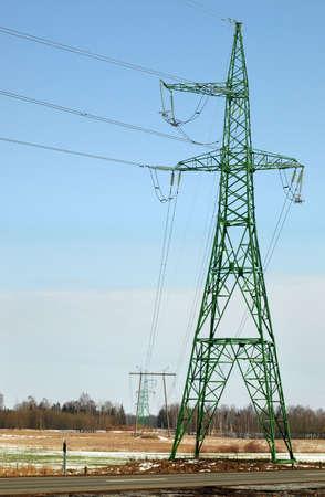High voltage power lines 110330 kV photo