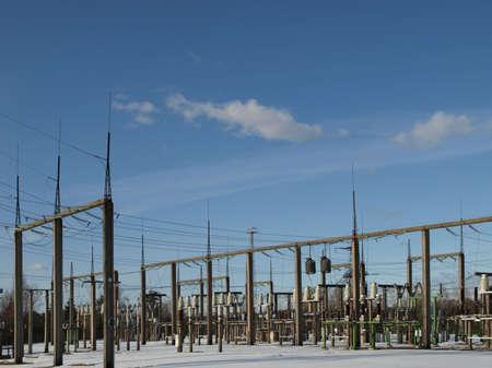 High voltage transformer station facility