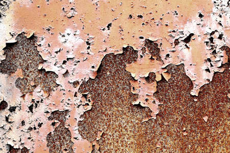 Grunge rusty metal wall texture photo