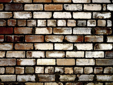 Grungy brick wall texture photo
