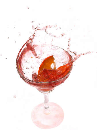 Martini splash Stock Photo