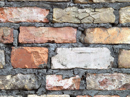 Detailed brick wall background - texture set #9 photo