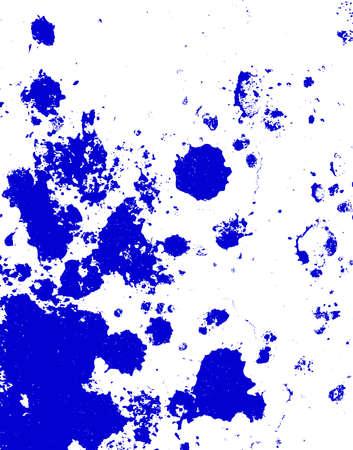 Blue paint blobs Stock Photo