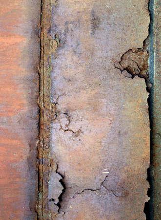 Old rusty metal sheet photo