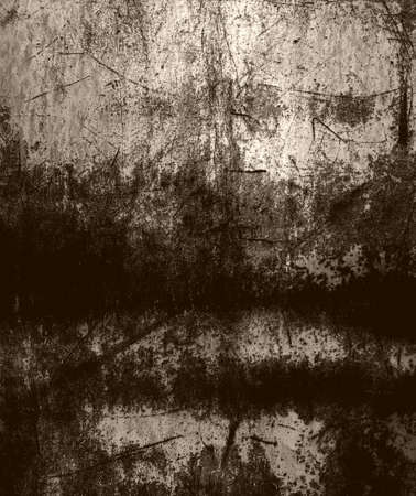 Grunge scratched metal Stock Photo