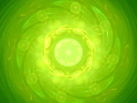 Green alien bubbles photo