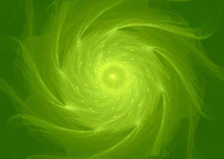 Green aperture whirlpool Stock Photo