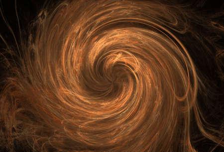 turbulence: Orange turbulence - abstract rendered image Stock Photo