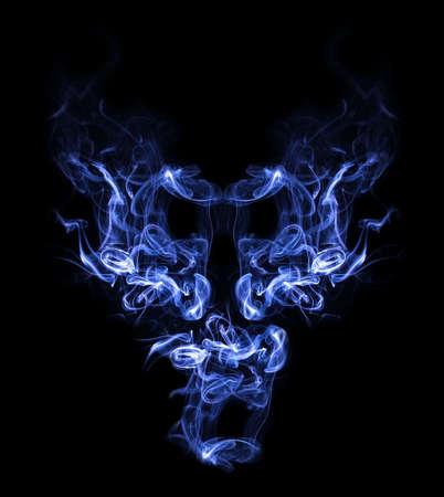 Smoke demon Stock Photo