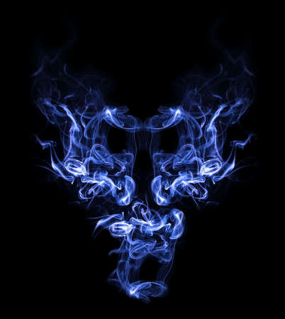 Smoke demon Stock Photo