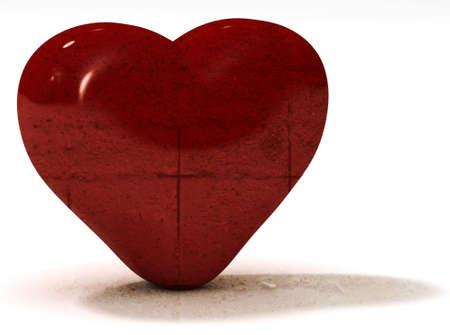 Concrete Valentines day heart