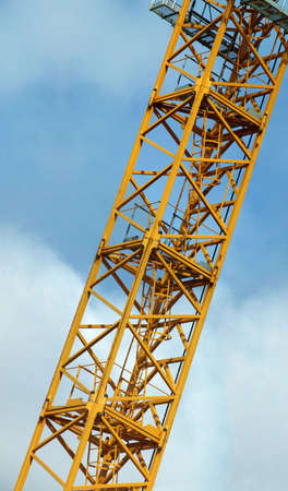 Hook crane tower platform - vertical panorama