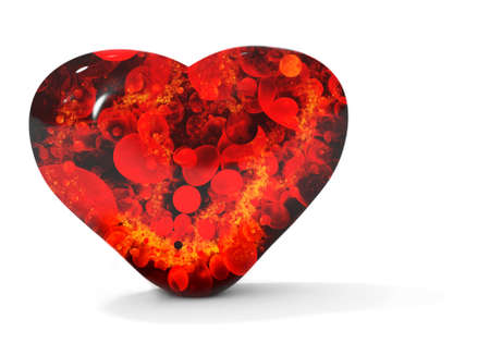 Black bleeding heart isolated on white Stock Photo