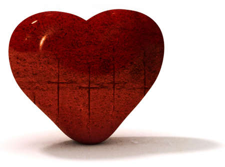 Grungy valentines heart Stock Photo