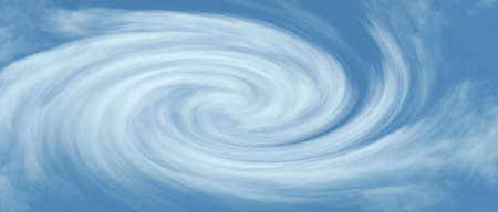 Surreal cloud vortex background panorama Stock Photo