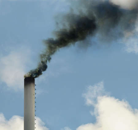 Dirty smoke, ecology problems photo