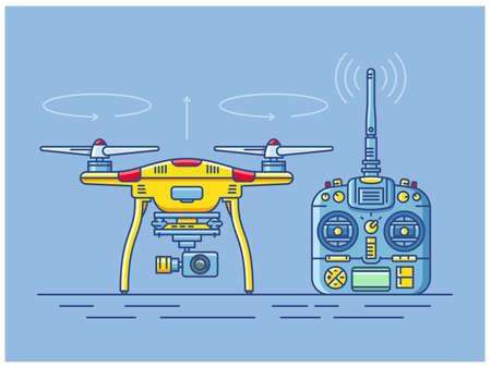Quadro copter drone. Иллюстрация