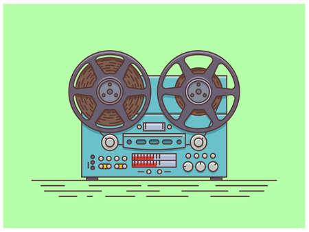 Old tape recorder. Illusztráció