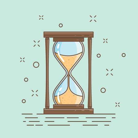 Hourglass, measure time 向量圖像