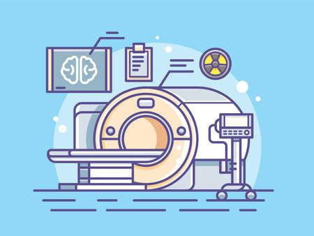 resonancia magnética: Ilustración del escáner médico.