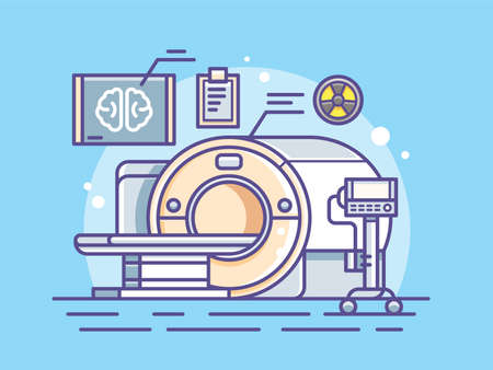 Illustration of medical scanner. Illustration
