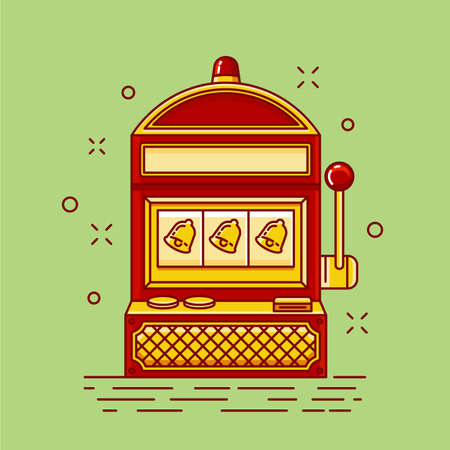 slot machine Vector illustration.