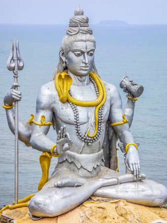 karnataka: Statue of the god Shiva in India, Karnataka Stock Photo