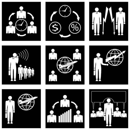 nbsp:  Set of icons for business. Fully editable  and change the color. Illustration