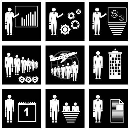 nbsp:  Set of icons for business. Fully editable or Change the color. resizable Illustration