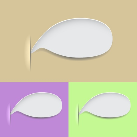 A set of three speech bubbles. three different colors Vector