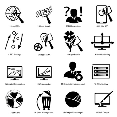 icons for the design and printing of business  each on a separate layer  within groups  Çizim