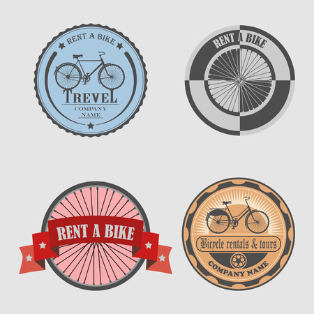 for designers: set of labels bicycle, icons, stickers and tools for designers Illustration