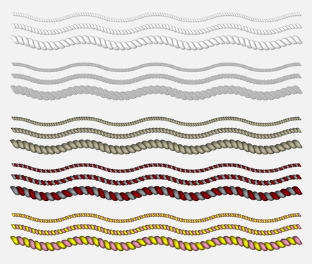 rope vector: The set consists of ropes of various sections of curved wave