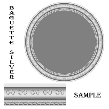 increased: round frame of silver and the sample size increased Illustration