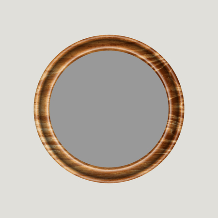 threaded: round frame made of precious wood for paintings, portraits and other. vector illustration. To work designers Illustration