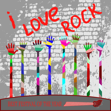 reconciliation: against the background of the old wall of words and a lot of hands raised, for all who love to rock.
