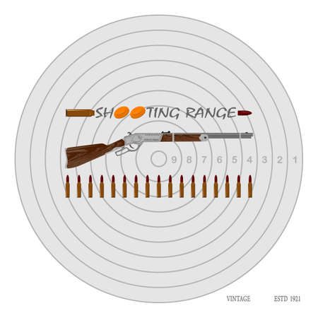 bullets: rifle, bullets, plates and target for marksmanship