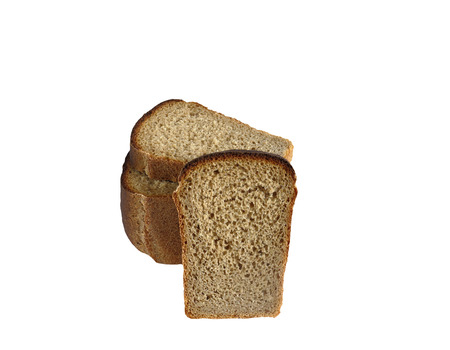 tasty and healthy bread for a healthy diet. isolated on white background without shadows. easy to cut for your design.