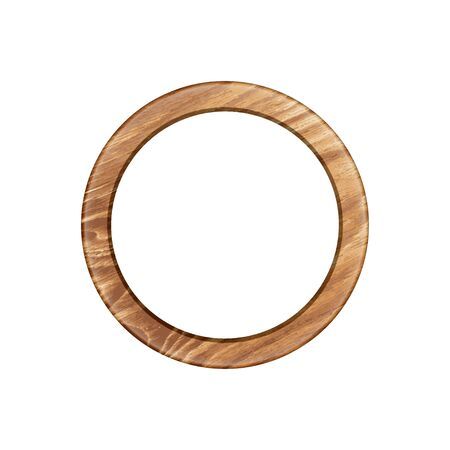 round frame made of expensive wood. chiseled baguette. isolate on a light background, it is easy to cut to your design.