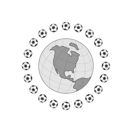 Football ball icon. Vetores