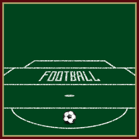 football field on the grass the markings and the gate stand rh 123rf com football field vector art free football field vector file