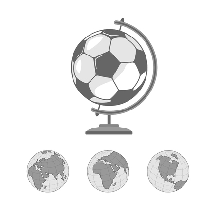 stand for the globe. in the middle of the ball. he symbolizes the planet earth