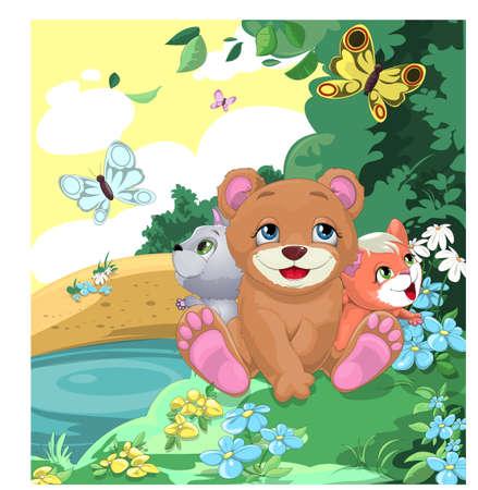 cheerful animals Banco de Imagens - 18161805