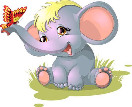 zwierzeta: słoń Ilustracja