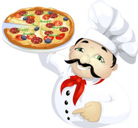 pizza master Stock Vector - 24570007