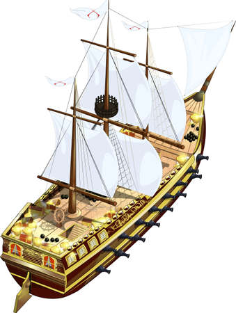 galleon: frigate Illustration