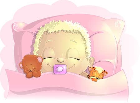 sleeps: the kid sleeps