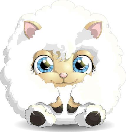 shepherd with sheep: lamb
