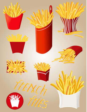 foodstuffs: french fries Illustration