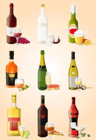 french bread: alcohol Illustration